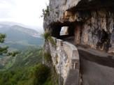 Precarious looking balcony road including gallery