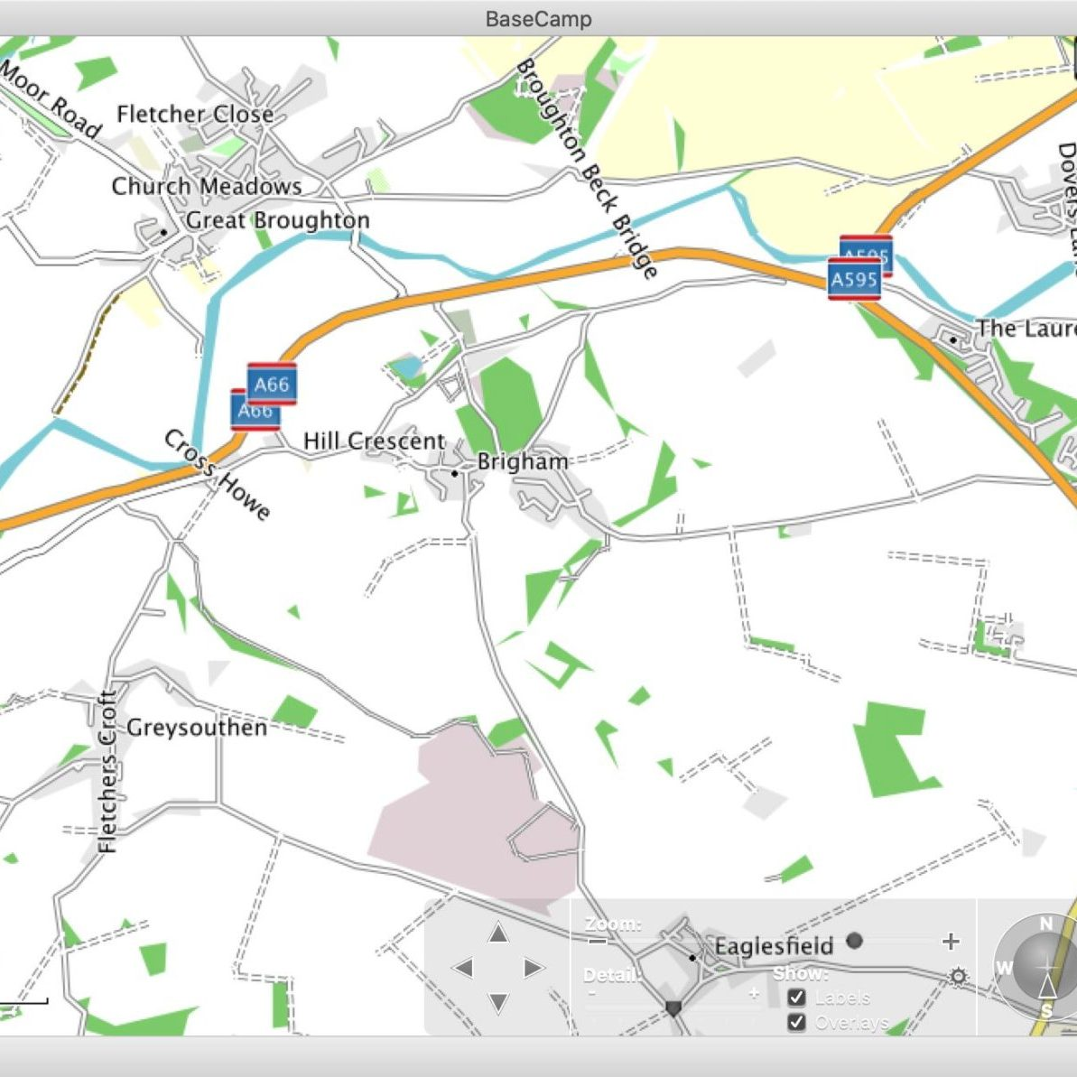 Screen-grab of Basecamp showing OSM mapping