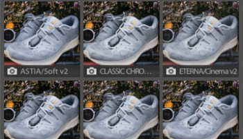Section of Lightroom UI showing colour presets