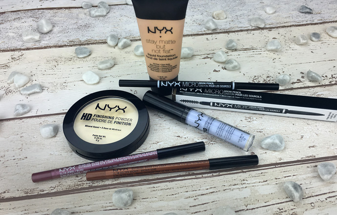 NYX, Gesicht, Augen, HD, Foundation, Concealer, Finishing, Powder, Swatches, stay matte but no flat liquid foundation, Creamy Natural, HD Photogenic Concealer Wand, Lavender, HD Finishing Powder, Banana, Micro Brow Pencil, Taupe, Slide-On Eye Pencils, Eye, Eyes, Golden Bronze, Jewel