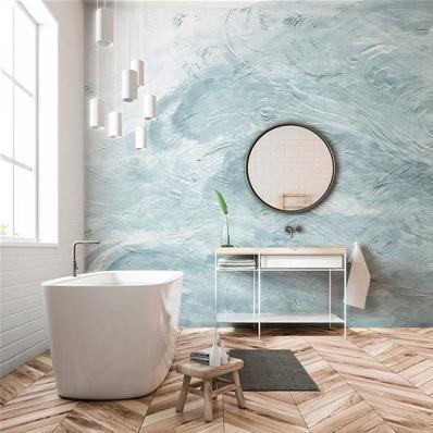 papier peint haut de gamme salle de bains azumi