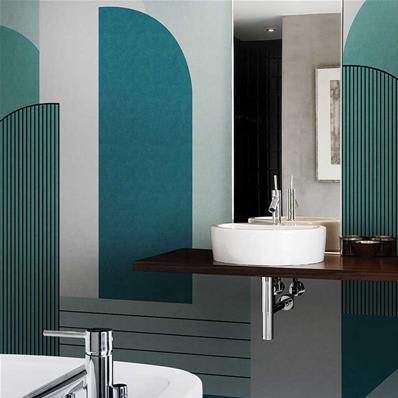 papier peint salle de bain impression d orient
