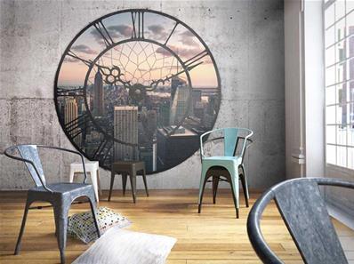 papier peint style industriel new york time