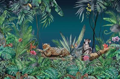 papier peint jungle et animaux savage