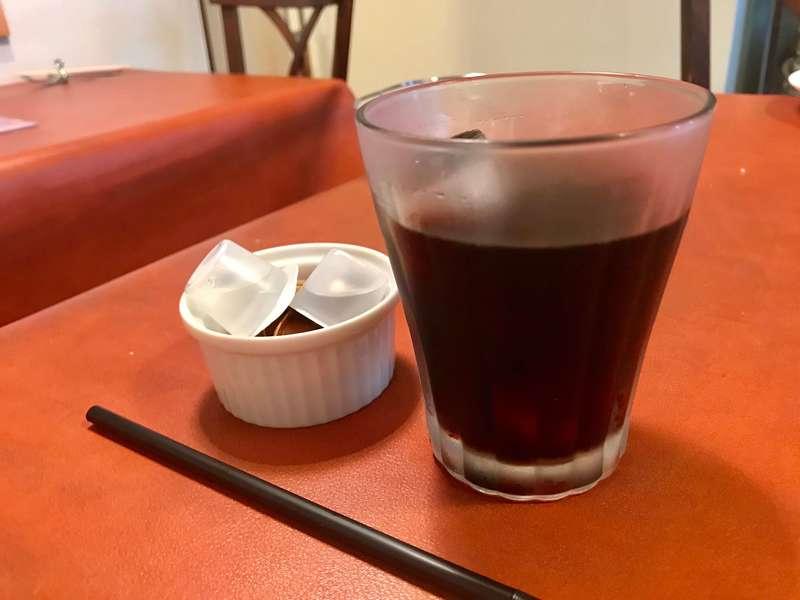 Trattoria doppio(トラットリア ドッピオ)のアイスコーヒー