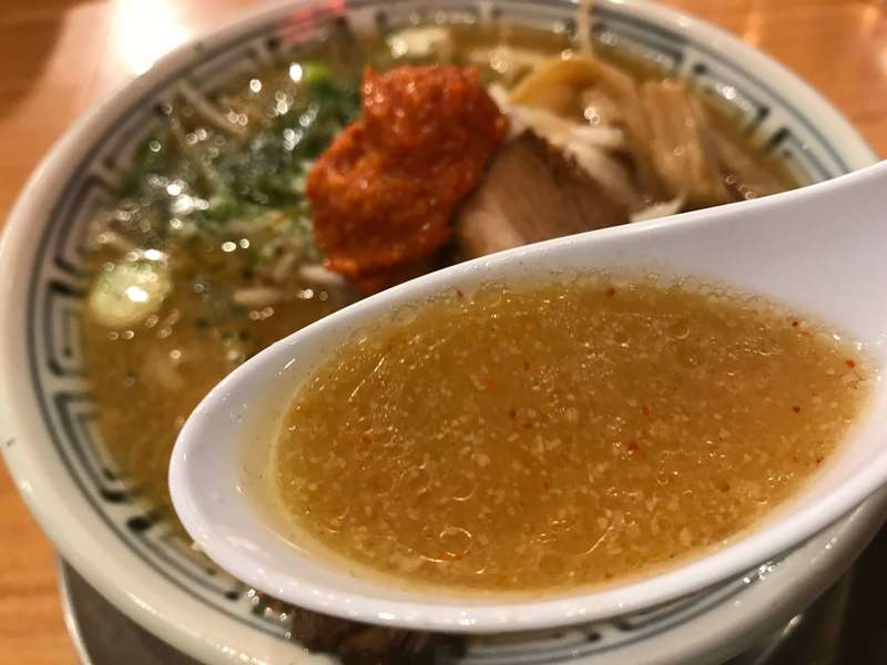ちゃーしゅうや武蔵イオンモール浜松市野店のスープ