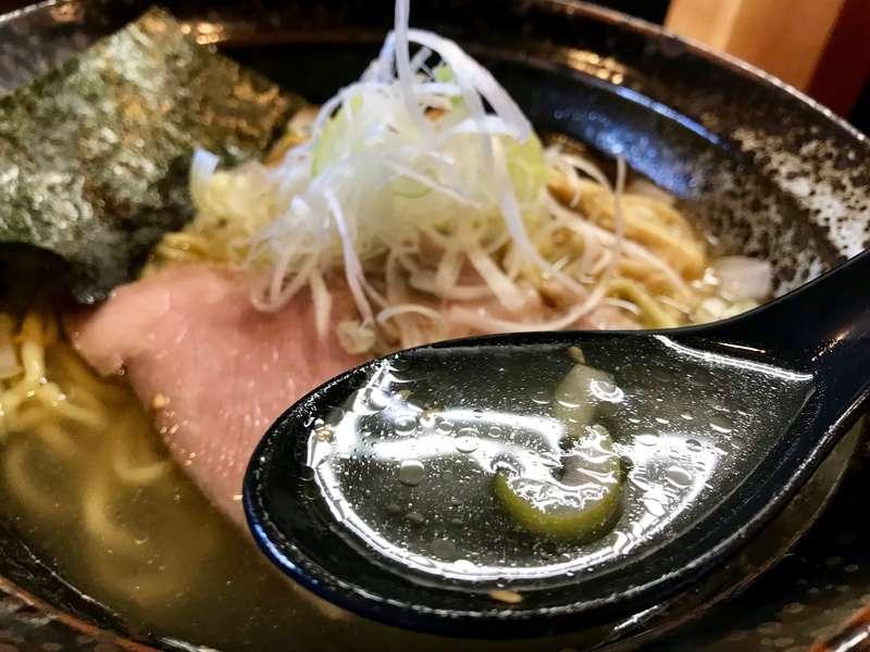 麺屋破天荒の和風塩らーめんスープ