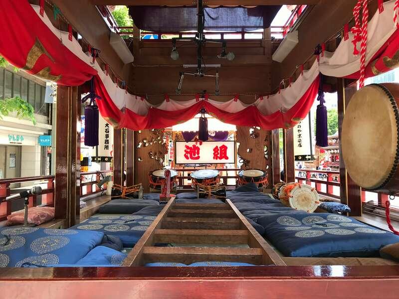 浜松まつり御殿屋台展示