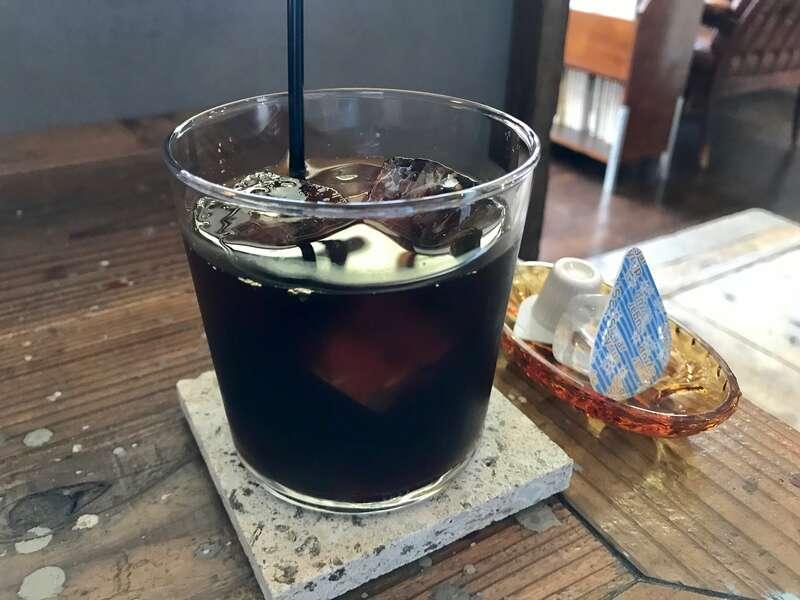 喫茶みちくさのアイスコーヒー