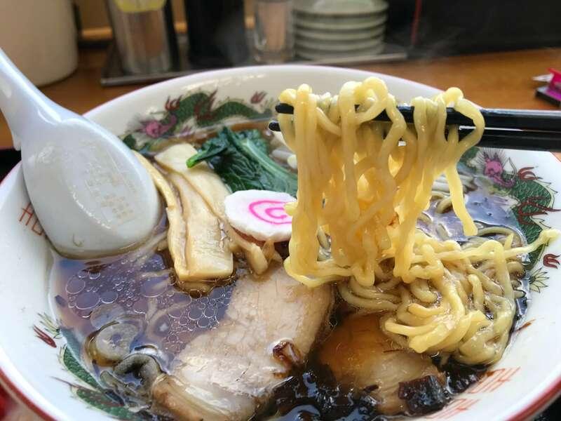 ホームラン軒二俣店の麺
