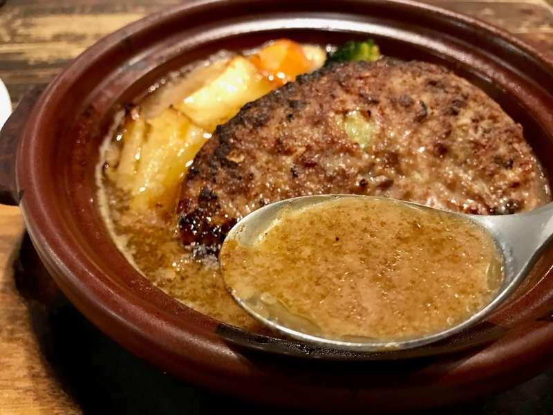 昭和町ボストンあべのハルカス店の煮込みスープハンバーグ
