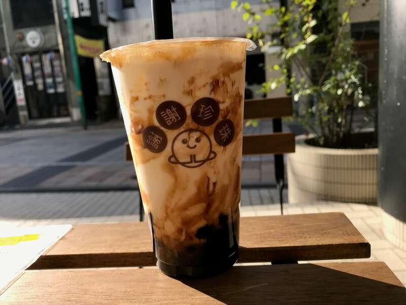 謝謝珍珠(シェイシェイパール)浜松店の極黒糖牛乳