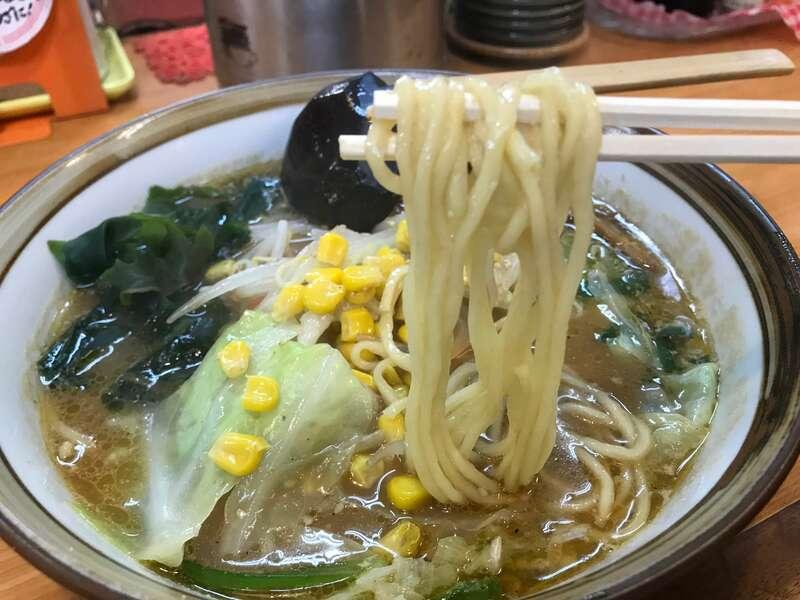 らーめんの店貴布禰の野菜味噌ラーメン
