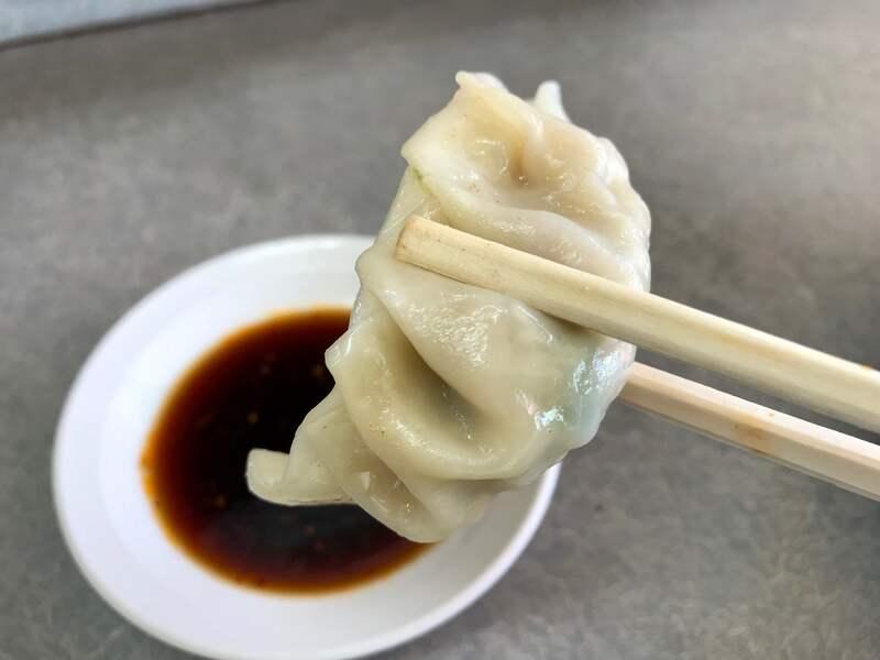 中華料理澄栄の餃子の皮