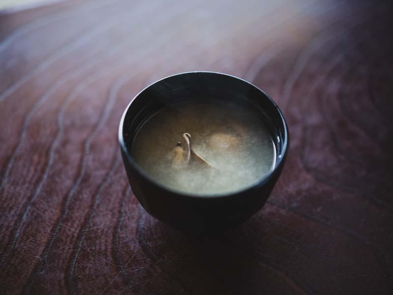 弁天島山本亭の味噌汁