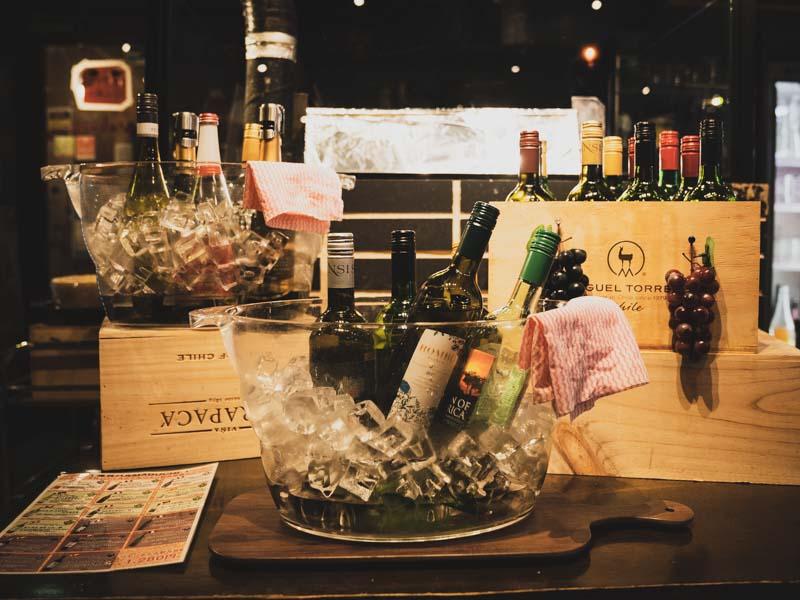 魚貝バルMabuchiマブチ浜松店のワイン