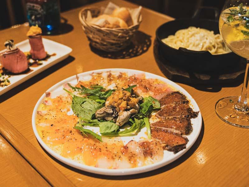 魚貝バルMabuchiマブチ浜松店のカルパッチョ