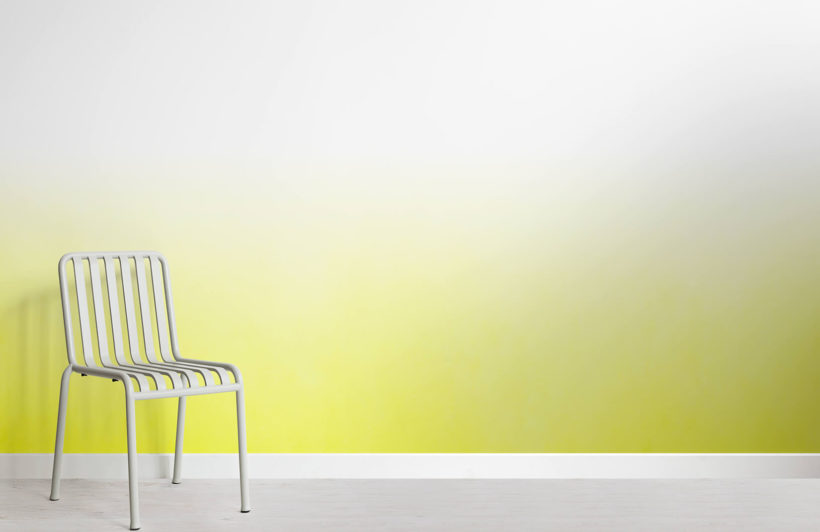 Yellow Ombre Fade Wall Mural