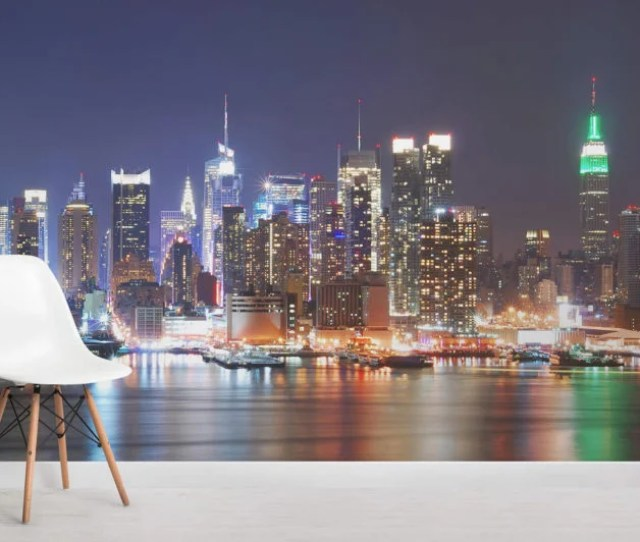 Night Time New York Room Wall Murals