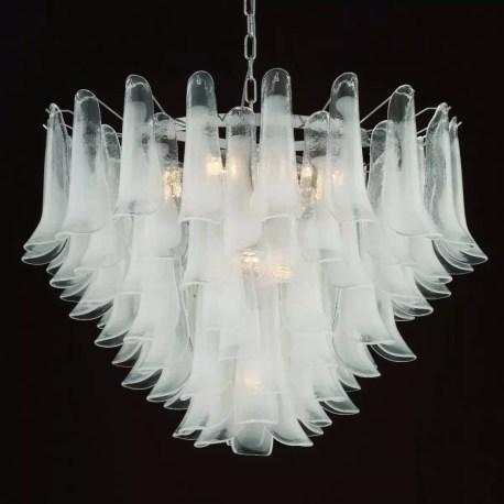 Calypso Murano Glass Chandelier 13 Lights White