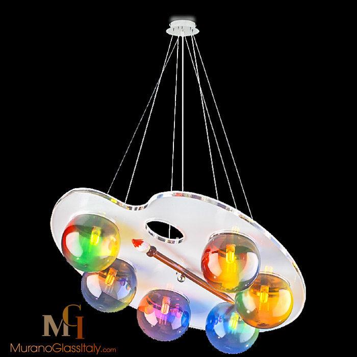 Bottega veneziana propone una collezione di lampadari murano outlet per offrire. Lampadario Di Murano Moderno Stile Picasso Negozio Certificato