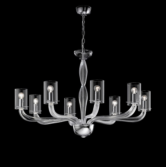 Modern Contemporary Clear Glass Murano Chandelier Dm0glac0k08