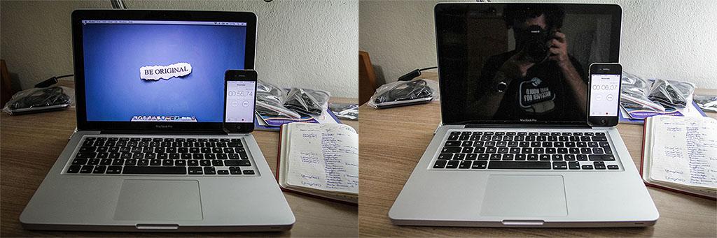 Süreleri not alalım: 55,74 saniyede açılan bilgisayar 6,07 saniyede kapanıyordu.