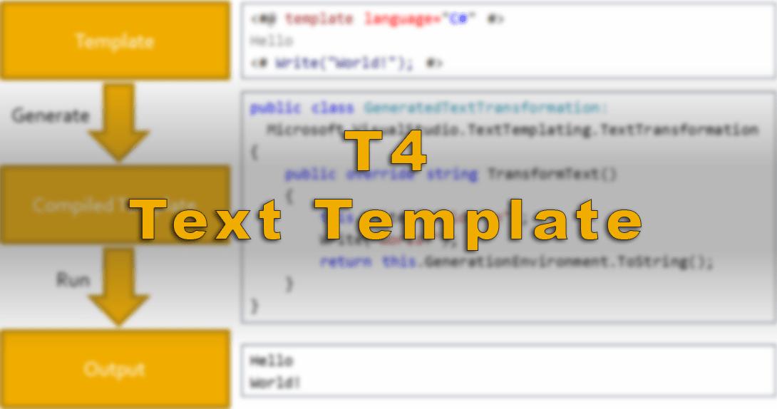 T4 Text Template Logo