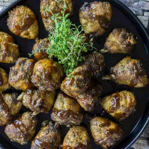 Grillet kyllinglår med BBQ saus