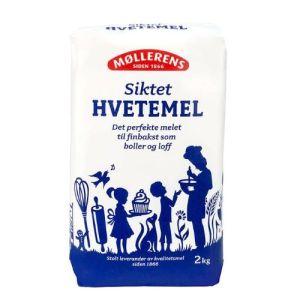 HVETEMEL SIKTET 2KG MØLLERENS