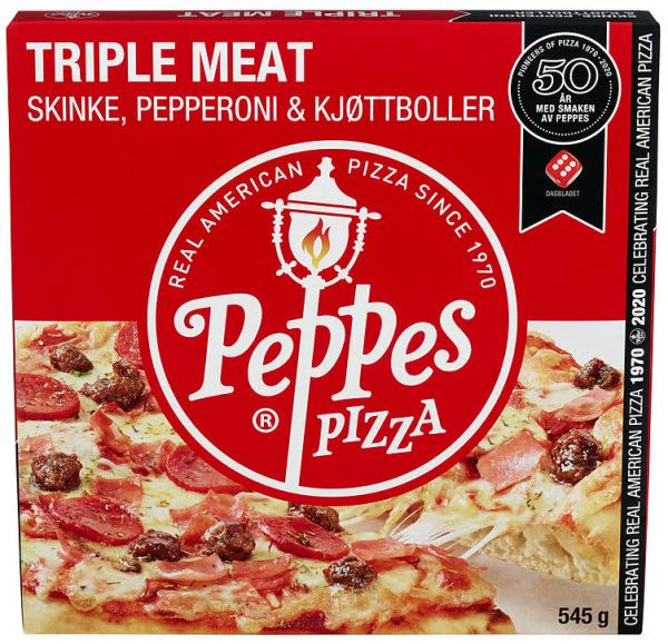 PEPPES PIZZA TRIPLE MEAT 545G