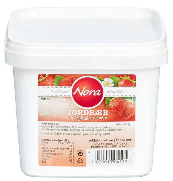 Nora Bringebærsyltetøy 1 kg