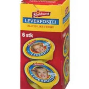 LEVERPOSTEI PORSJON 6X22G STABBURET