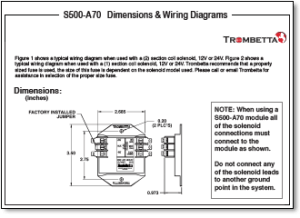 Trombetta's S500A50, A60 and A70 are SolidState