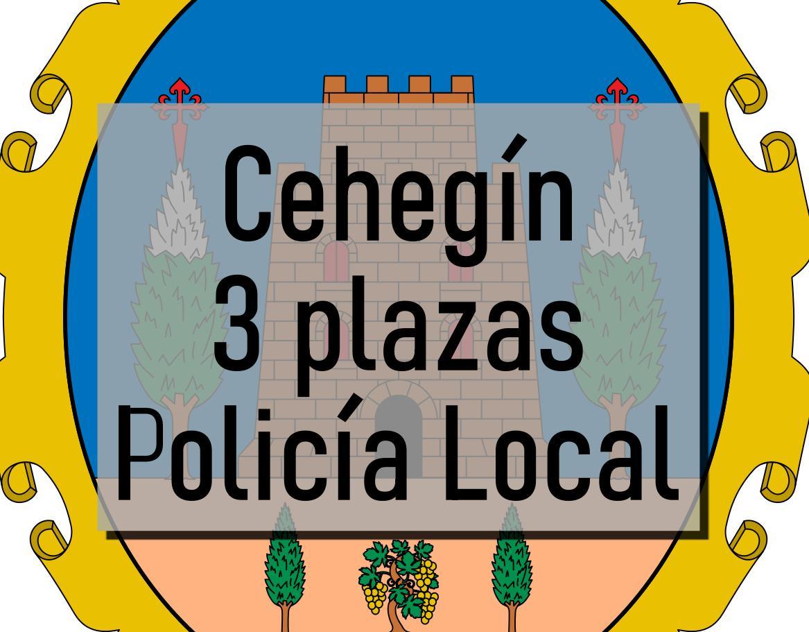3 plazas Agente de Policía Local