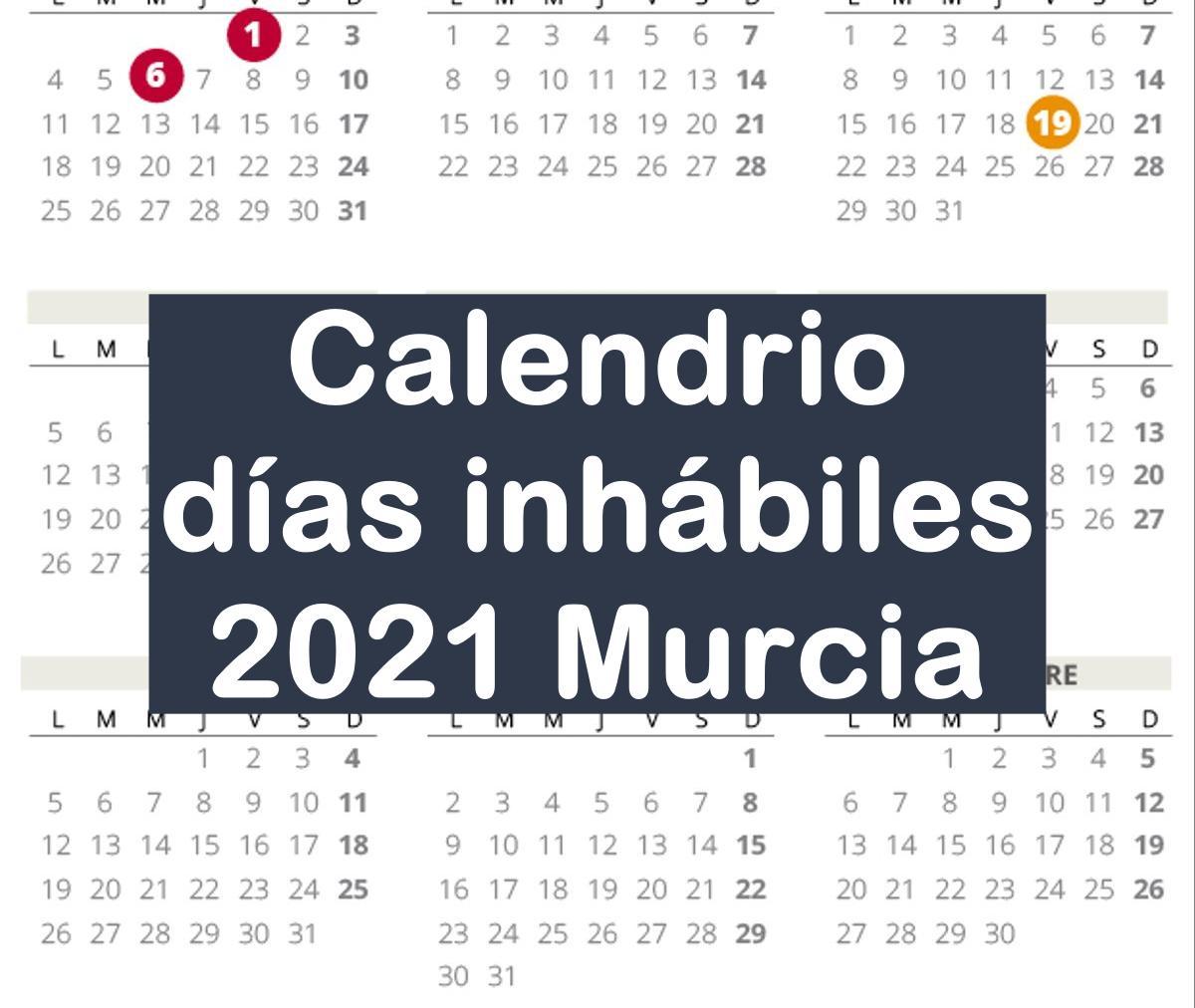 Calendario laboral de Murcia del 2021