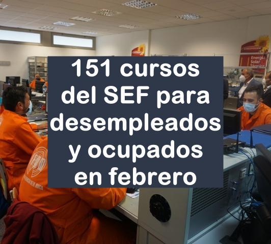 151 cursos del SEF en febrero