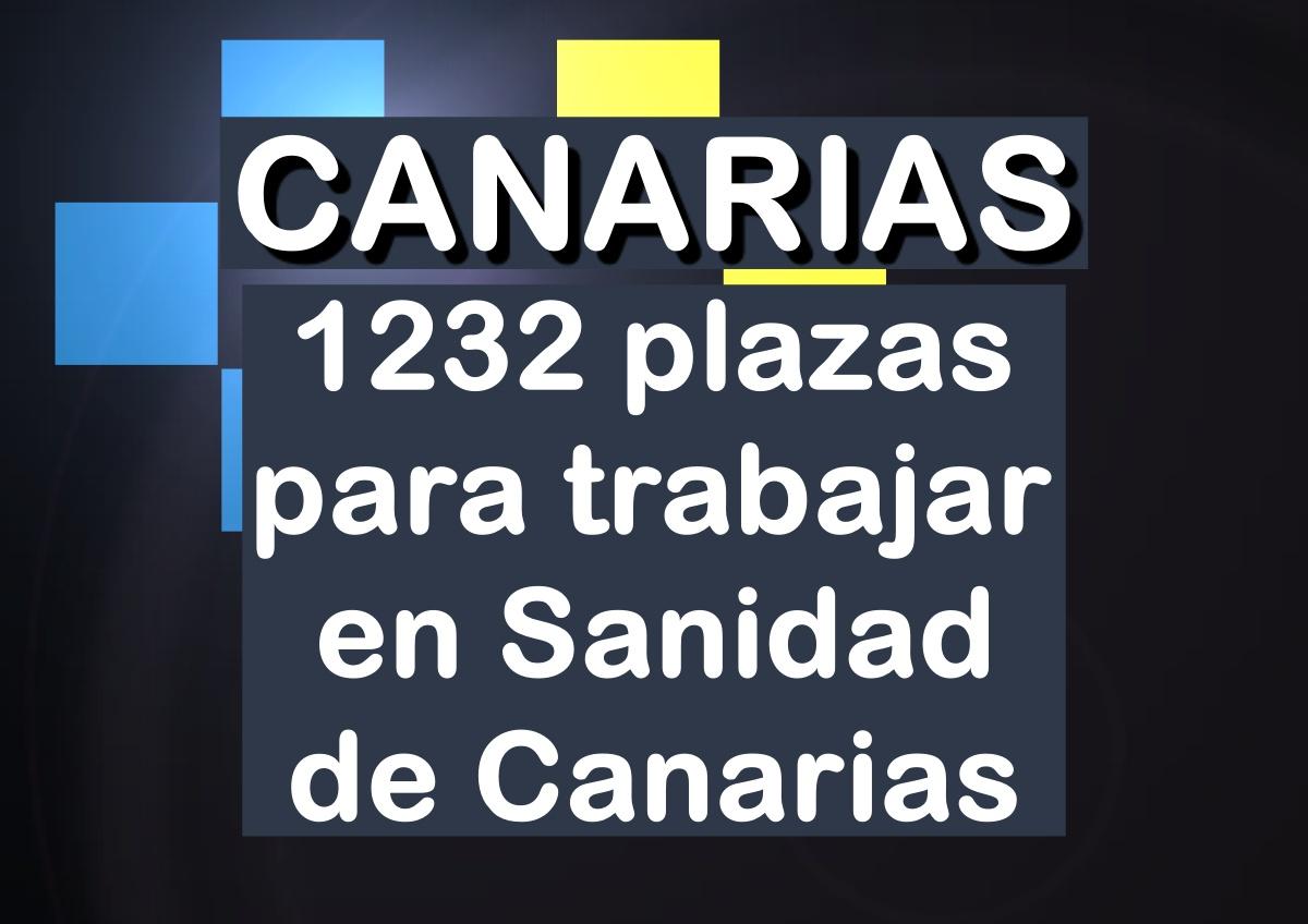 1232 plazas en la Sanidad de Canarias