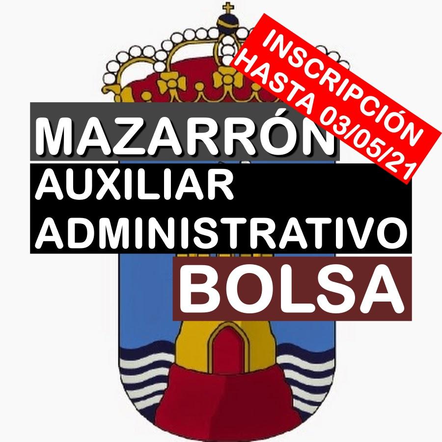 1 Bolsa de empleo de Auxiliar Administrativo en Mazarrón