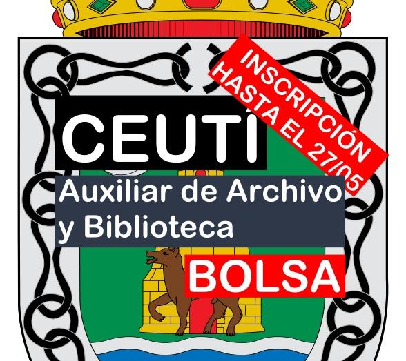 Bolsa de trabajo de Auxiliar de Archivo y Biblioteca en Ceutí