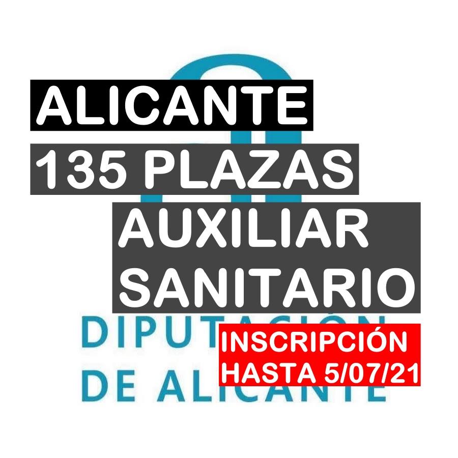 135 plazas Auxiliar Sanitario en la Diputación de Alicante