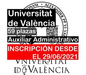 59 Auxiliar Administrativo en Universitat de València