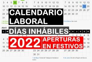 Calendario laboral de Murcia del 2022