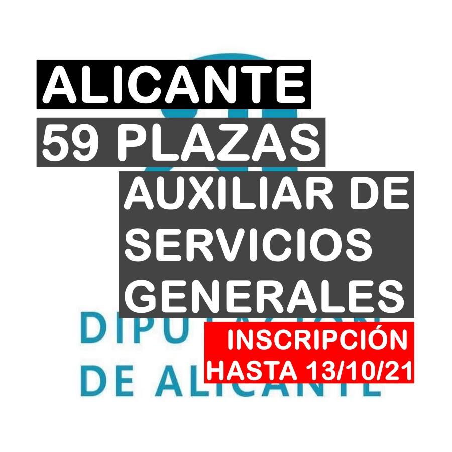 59 plazas Auxiliar de Servicios Generales de la Diputación de Alicante
