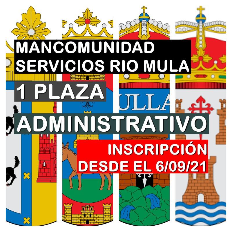 1 Administrativo en la Mancomunidad de Servicios Sociales del Río Mula