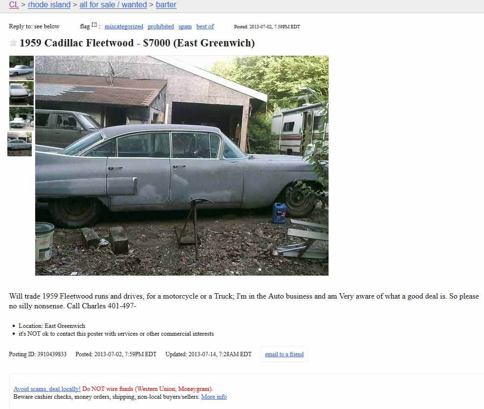 Project Car Hell Great Big Tailfins Edition 1959 Cadillac Or 1959