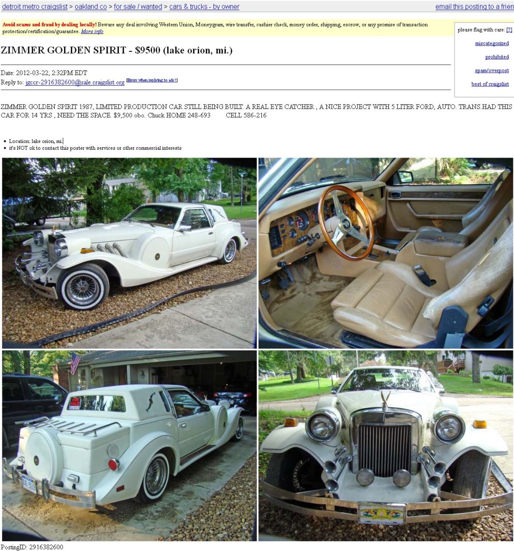 Craigslist Cars For 1000 And Under In Detroit Michigan