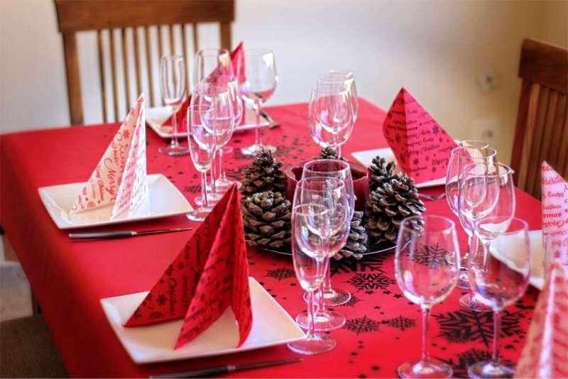 mesa navidad mantel papel