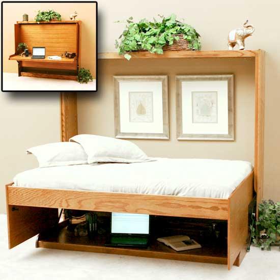 horizontal wall bed cheap sideways