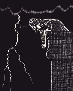 The Conjuring in the Iron Tower, illustration by Keith Henderson